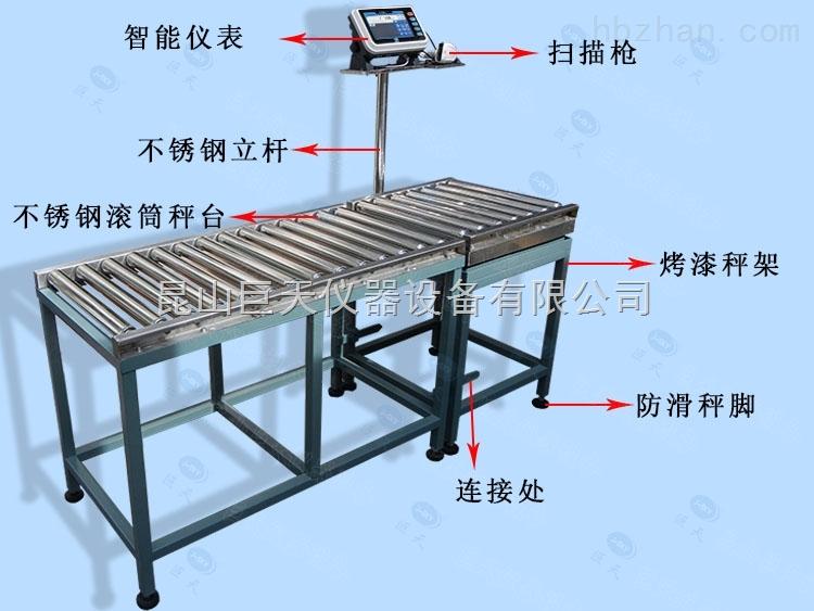 150公斤输送带滚轮电子秤,100KG流水线操作电子称,75KG滚筒电子平台称厂家