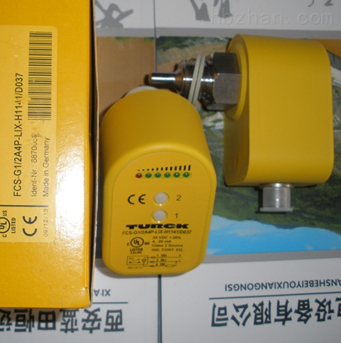TURCK流量开关、FCS-G1/2A4-AP8X-H1141不锈钢冷却回路监测