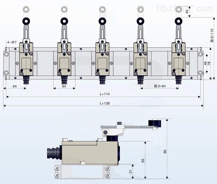 接力器开关DWG导叶位置主令开关机组控制自动化