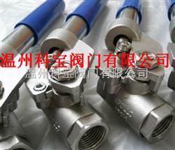 THQ11F不锈钢二片式弹簧复位球阀DN20-40