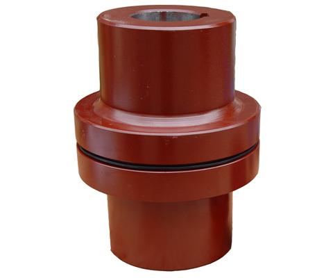 平键套筒联轴器_联轴器,包括两个圆盘和带弹性橡胶圈的钢柱,用平键分别将泵轴和电动机