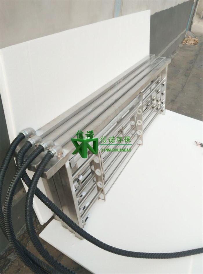 7)紫外灯源电路部分 紫外灯管排架以每一排架为一配电系统.