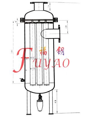 立式汽水分离器,立式l型汽水分离器